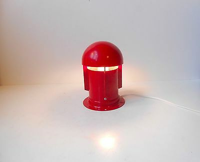 1970s red ROBOT Table bedside wall Lamp danish space age Panton Eames Hebi era
