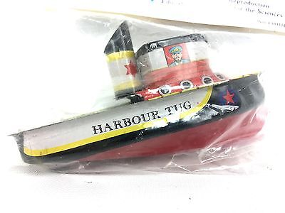 Putt Putt Boats Lithographed Jumbo Tug Steam Candle Or Oil Powered Tin Boat NEW