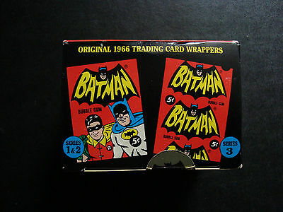 Batman 1966 Topps Deluxe  Reissue Trading Cards - 143 cards - Sealed Box
