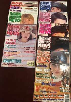 Vintage Machine Knitting News, 11 Magazines From 1995