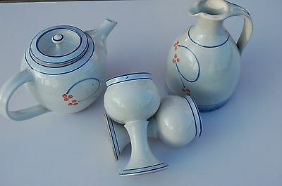 Stoneware Jackson Pottery, Ireland  4 Pieces. Hand Made. Ceased Production.