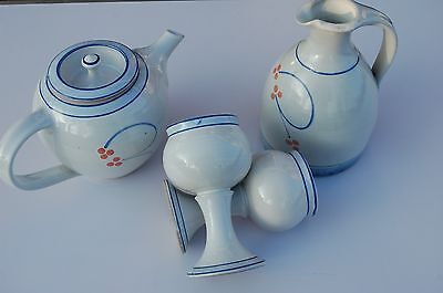 Stoneware Jackson Pottery, Ireland.  8 Pieces. Hand Made. Ceased Production.