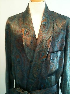HARRODS Silk Robe made by A.SULKA. Hand Silk Screened, Harrods Box, Worn Twice!
