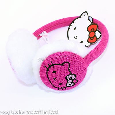 Official Licensed Girls Hello Kitty Pink Ear Muffs One Size
