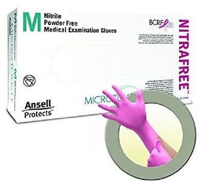 Ansell Perry 6034512 MicroTouch NitraFree Gloves Medium 100/Bx