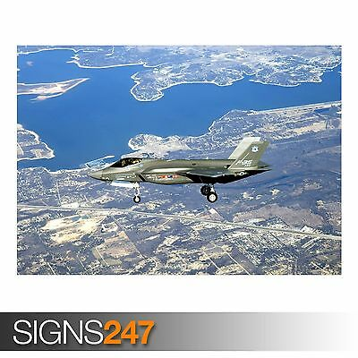 F-35 LIGHTNING AIRPLANE FIGHTER JET PRINT ART POSTER PICTURE A3 SIZE GZ1560