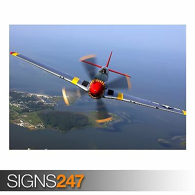 NORTH AMERICAN P 51 MUSTANG (4022) Photo Picture Poster Print Art A0 A1 A2 A3 A4