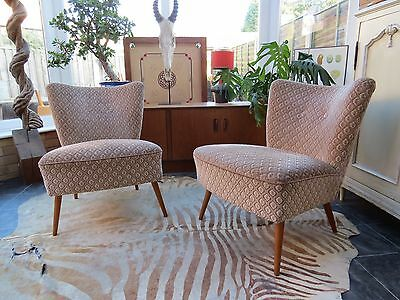 A Great Pair Of Vintage East German Bartholomew Cocktail Chairs C1955 Oc16-7
