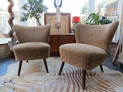 A PAIR OF ORIGINAL 1960s VINTAGE EAST GERMAN BARTHOLOMEW COCKTAIL CHAIRS JN16/68