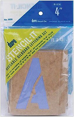 Graphic Products Plastic Stencil-It Reusable Lettering Set-4-inch