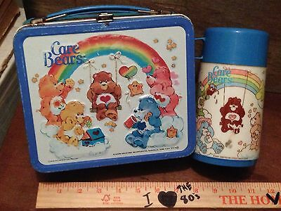 The Care Bears 1985 Vintage Metal Lunchbox & Thermos COMPLETE