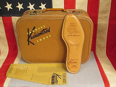 Vintage 1950s Tanners Shoe Co. Salesmans Travel Case & Accessories Advertising