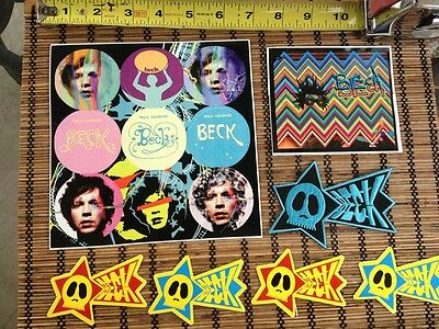 Beck Sea Change 2002 concert stickers and 1 patch