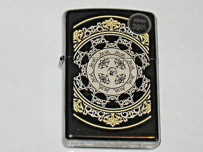 Gunstock Filigree Crystal Lizety New ZIPPO Windproof Lighter Swarovski Elements
