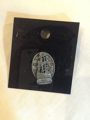 USS Constitution Collector Pin  Pewter Old Ironsides Made In Canada