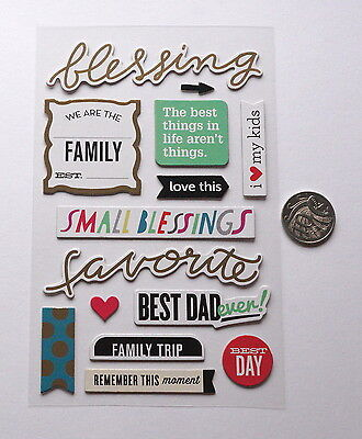 Scrapbooking No 303 - 11 Plus Chipboard Family Themed Stickers