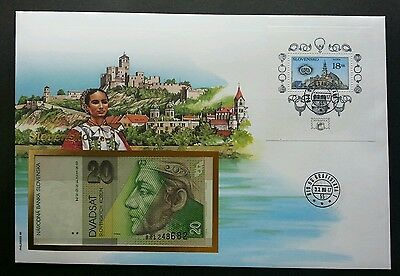 Slovakia City Town 1998 FDC (banknote cover) *Rare