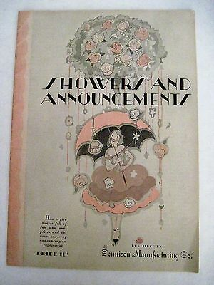 """1928 Dennison Booklet on """"Showers and Announcements"""" *"""