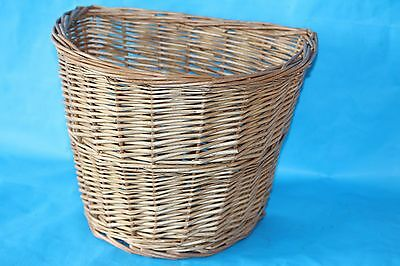 New Girls Womens  Bike Basket Wicker  Bicycle L 26cm x W 33cm x D 26cm Vintage