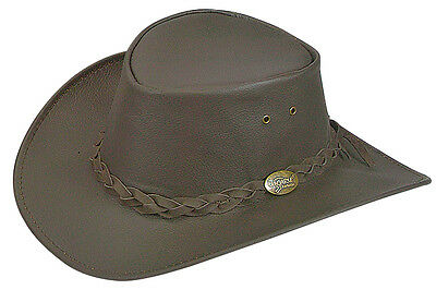 Kangaroo  Water replant hat Soft leather   Packer hats  Brown  roo
