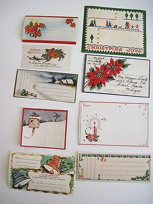 Antique Vintage Christmas Tags for Packages - 10 Pcs. Assorted *