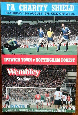 Ipswich V Notts Forest 12/8/1978 Charity Shield