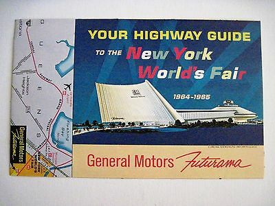 Futuristic Map Guide to The 1964-65 New York World's Fair by General Motors *