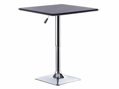 1 square bar table gas lift black patio man cave adjustable heights