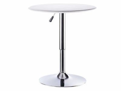 1 round bar table gas lift white patio man cave adjustable heights