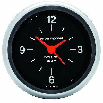 "AutoMeter 2-5/8"" Sport-Comp Analog Clock Gauge 12 HOUR * 3585 *"