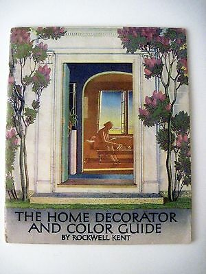 "Vintage 1939 Booklet ""Home Decorator & Color Guide by Rockwell Kent (Artist) *"