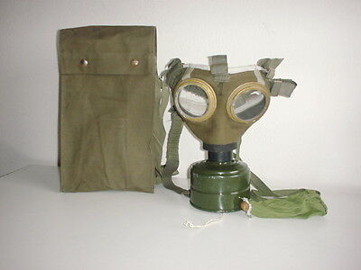 Austrian army WW1 style Hungarian gas mask unissued smaller size