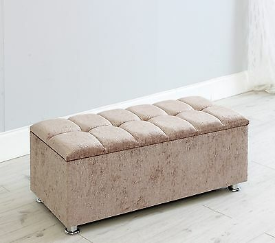 Cube Chenille Ottoman Box Storage Box Toy Box Bench Stool Choice Of Colours