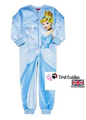 Girls/kids Disney Princess Cinderella Onesie Pyjamas Sleepsuit Official Disney