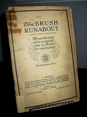 Vintage Brush Runabout - Model E Auto Sales Advertising Booklet - Fair Cond.