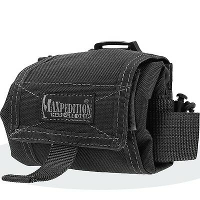 Maxpedition 0209B Mega Rollypoly Dump Pouch Black Nylon