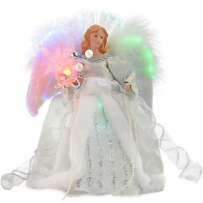 WeRChristmas 30 cm Fibre Optic Angel Decoration Christmas Tree Top Topper