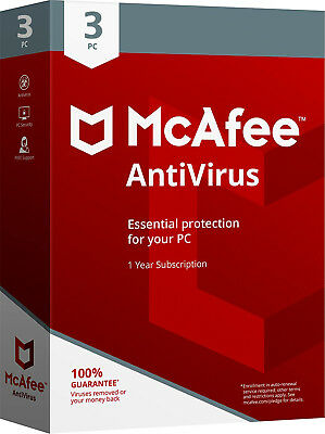 McAfee Antivirus Plus 2017/2016 - 1Year Subscription -3 PCs (Only For PCs)