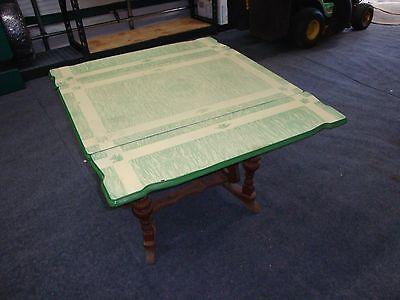 Vintage Enamel Top Kitchen Table Or Dining Table Expandable