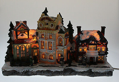 Christmas 3d Workshop Snow Decoration With Lights Xmas Gift Xmas Scene