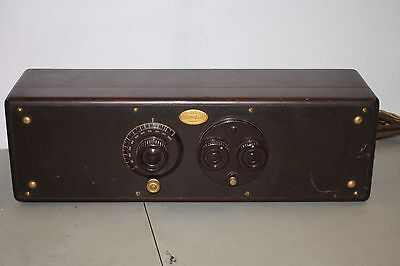 Atwater Kent Model 30 Table Top Radio 1920's - All 5 Globe Tubes Present