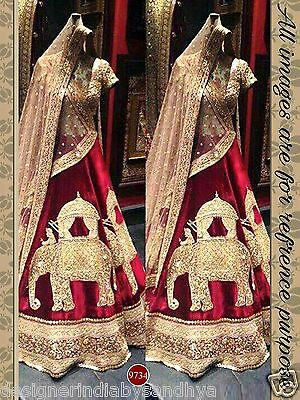 lehenga choli dupatta indian Bollywood Designer bridal lengha wedding Abaya sari
