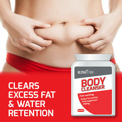Ultra Trim Body Cleanser Pill – Tablets Clears Excess Fat & Water Retention