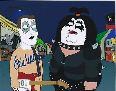 Family Guy Fred Willard Signed Kiss Ace Frehley 8X10 Photo Showstuff