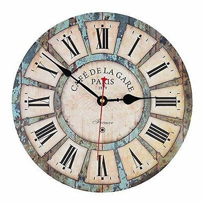 Wall Clock, iTECHOR 12 Inch Vintage France Paris French Country Tuscan Style
