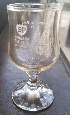 British Petroleum Kwinana Refinery Excellence in Safety 1988  Shot/ Port Glasses