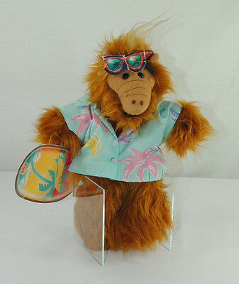 "Alf Hawaiian Surfer 11"" Hand Puppet Burger King Melmac 1988 Plush Stuffed Animal"