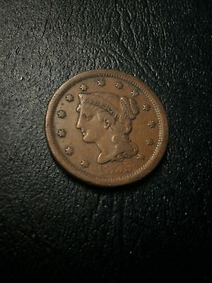 1855  Braided Hair Large Cent