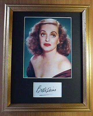 BETTE DAVIS HOLLYWOOD LEGEND SIGNED AUTOGRAPHED  with COA