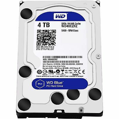 "Western Digital WD Blue 4TB 3.5"" SATA Internal Desktop Hard Drive HDD 5400RPM"